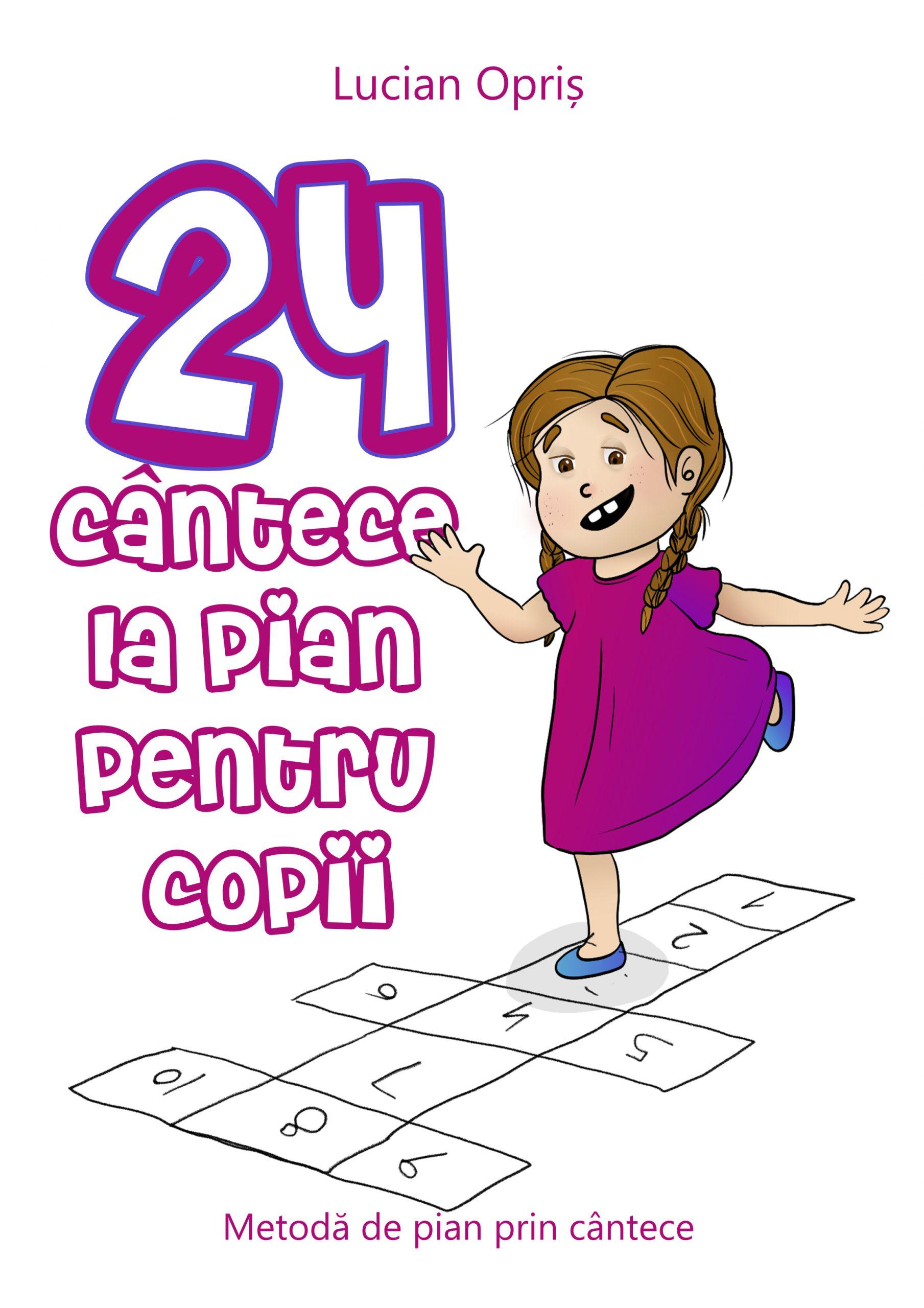 24 Cântece la pian pentru copii
